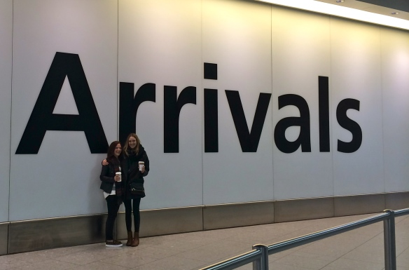 Arrivals | LZ and I upon getting to London
