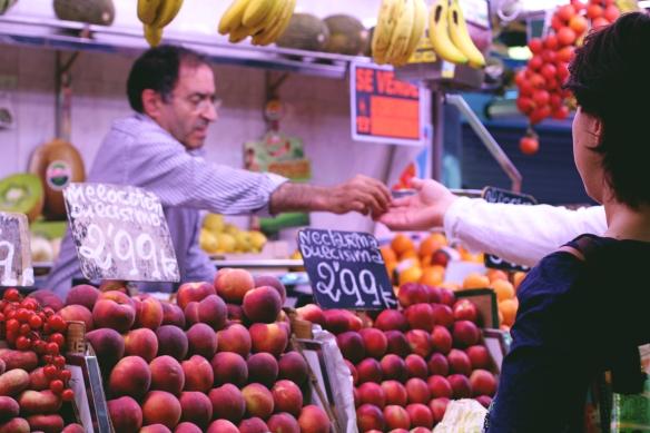 La Boqueria | Spain Travel Diary, Red Lips + Tortilla Chips