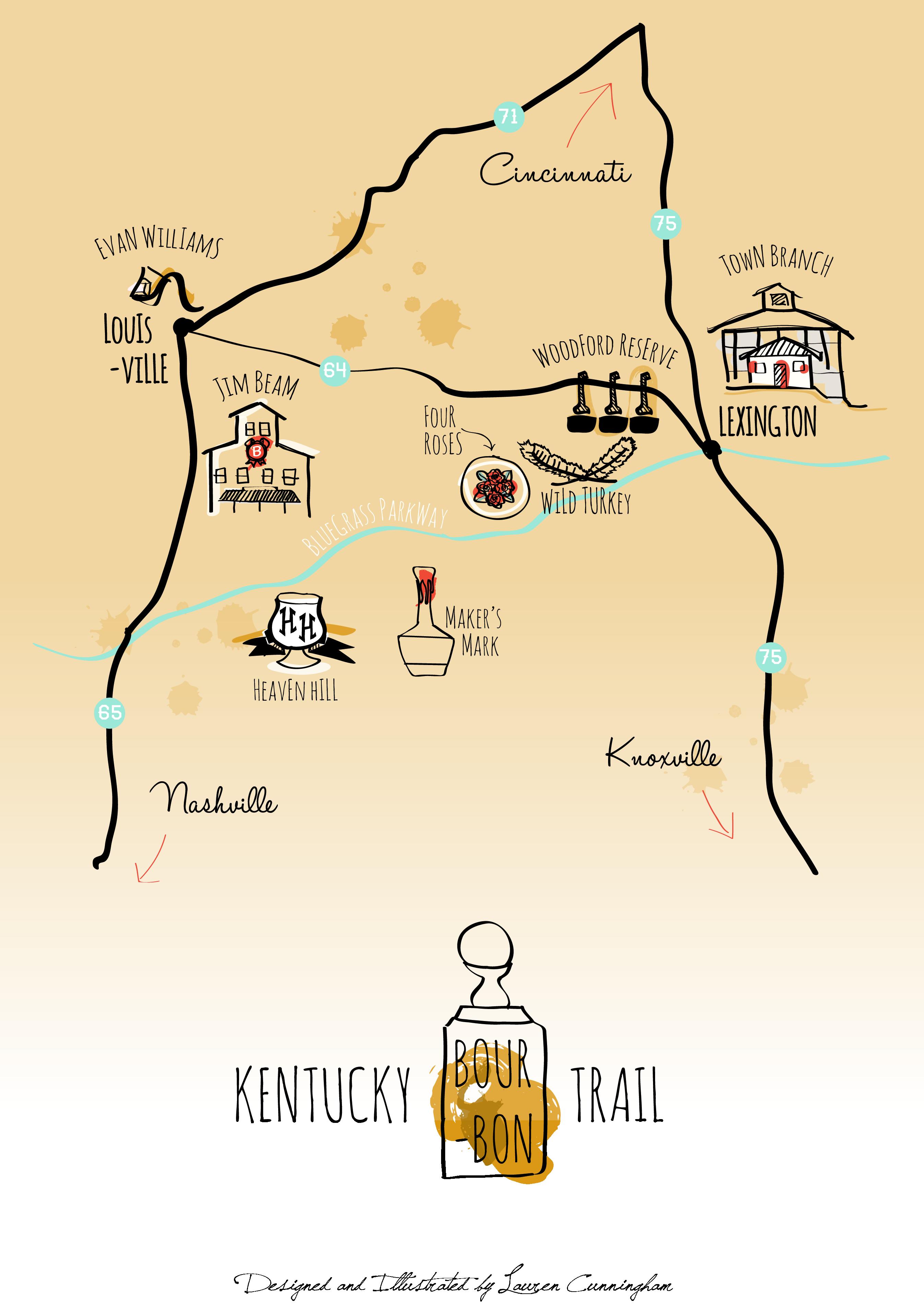 Kentucky Bourbon Trail Map